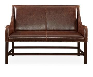 Manchester Antique Saddle Leather Settee