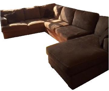 Bloomingdale's 3-Piece Microsuede Sectional Sofa