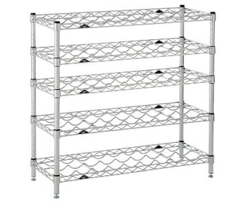 Container Store InterMetro 5-Shelf Wine Rack in Silver