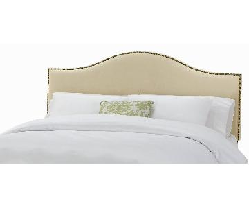 Skyline Queen Nail Button Upholstered Headboard
