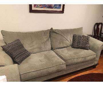 Ashley Sage Green Natural Sofa & Chair