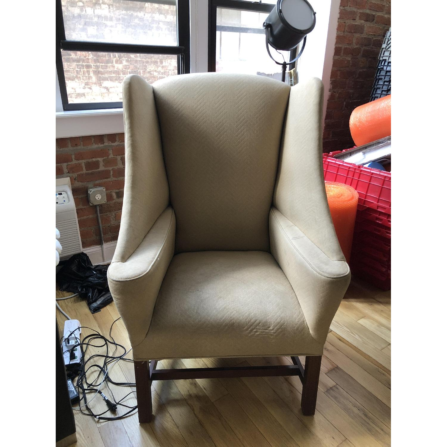 Vintage Winged High Back Chair ...