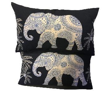HomeGoods Elephant Design Decorative Pillows