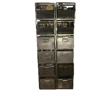 Vintage Metal Modular Storage Unit