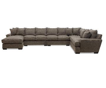 Macy's Ainsley 4-Piece Chaise Sectional Sofa