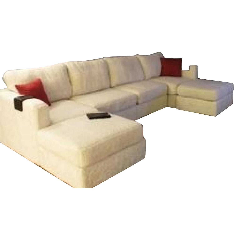 Lovesac Sofa For Sale: LoveSac 6-Piece Chaise Sectional Sofa & Ottoman