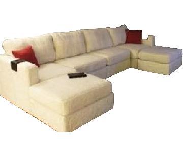 LoveSac 6-Piece Chaise Sectional Sofa & Ottoman