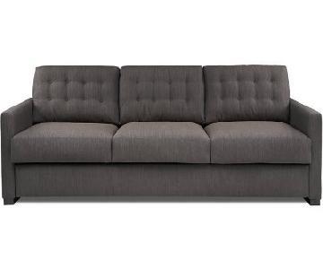 American Leather Payton King Sleeper Sofa in Dark Grey