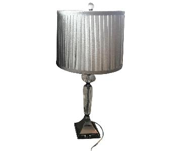 Silver & Acrylic Table Lamps