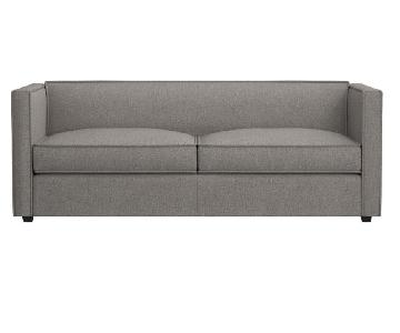 CB2 Club Light Grey Sofa