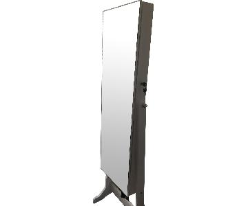 Mirrored Jewelry Cabinet Armoire