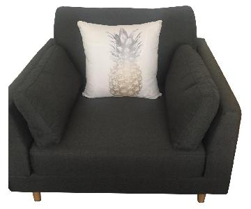 Dark Grey Armchair