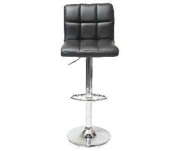 Round Hill Furniture Swivel Black Bar Stool