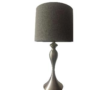Metal Base Table Lamp w/ Fabric Shade