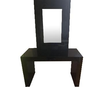 Black Console w/ Mirror