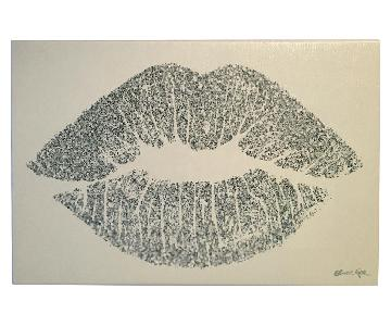 Oliver Gal Solid Kiss Glitter Canvas