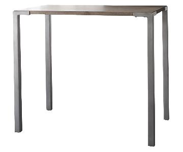 CB2 Stilt 2-Top Counter Table w/ 4 Bar Stools