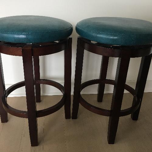Used Teal Swivel Barstools for sale on AptDeco