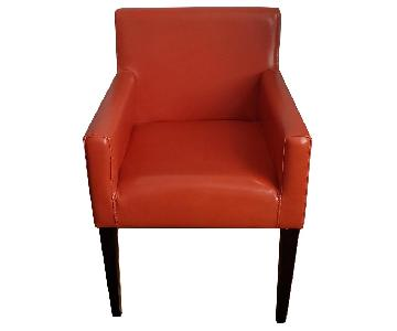 West Elm Garvey Leather Chairs in Carrot