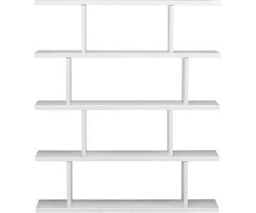 CB2 Modern White Bookcase