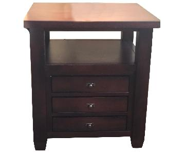 Pottery Barn Dark Wood End Table