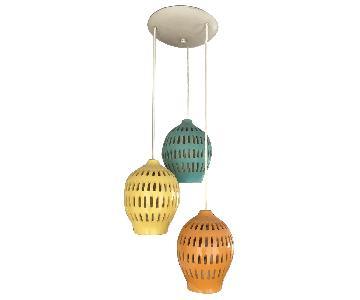 Samson Berman Circa 1961 Mid-Century Ceramic Hanging Light