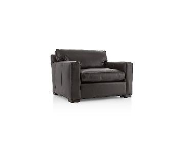 Crate & Barrel Axis II Leather Armchair