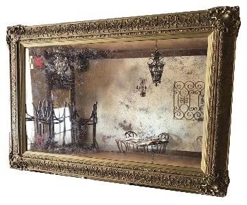 Vintage Early 1900s European Mirror w/ Old World Character