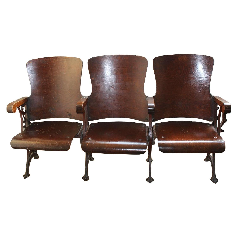 Vintage 1907 NYC High School Auditorium Chairs