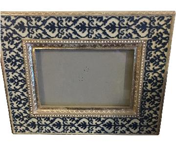 Blue & Gold Rustic Picture Frames