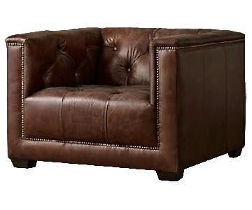 Restoration Hardware Savoy Leather Chair