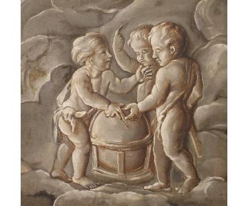 19th Century French Painting - Allegory Of Astronomy
