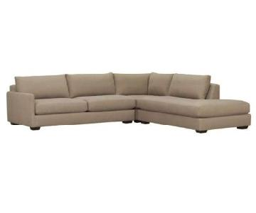 Crate & Barrel Domino 3 Piece Sectional Sofa