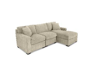 Macy's Radley 2-Piece Fabric Chaise Sectional Sofa