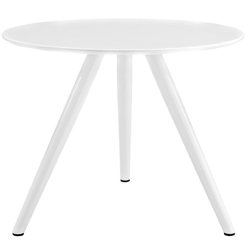 Tulip Style White Tripod Base Mid Century Dining Table