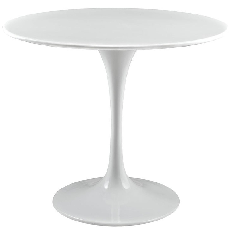Tulip Style Wood Top Mid Century Dining Table AptDeco - Tulip table wood top
