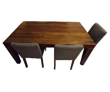 West Elm Caroll Farm Table w/ Matching Bench + 3 Chairs