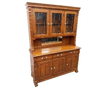 Solid Oak China Cabinet
