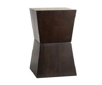 West Elm Rustic Block Geometric Side Table