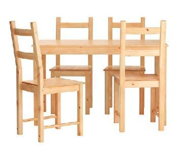 Ikea IngoTable & 4 Ivar Chairs