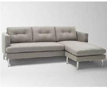 West Elm Jackson Reversible Sectional Sofa