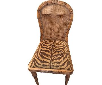 Bloomingdale's Upholstered Cane Back Dining Chairs