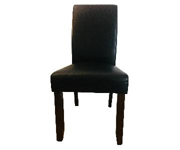 Parsons Dining Chair in Brown Leather