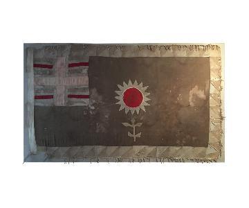Vintage Flower Fante Asafo Ghana Flag