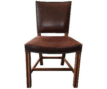 Custom Leather Dining Chairs with Nailheads