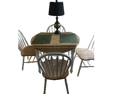 Drop-Leaf Dining Table w/ 4 Chairs