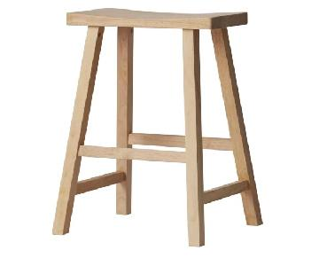 Natural Contemporary Wood Stool