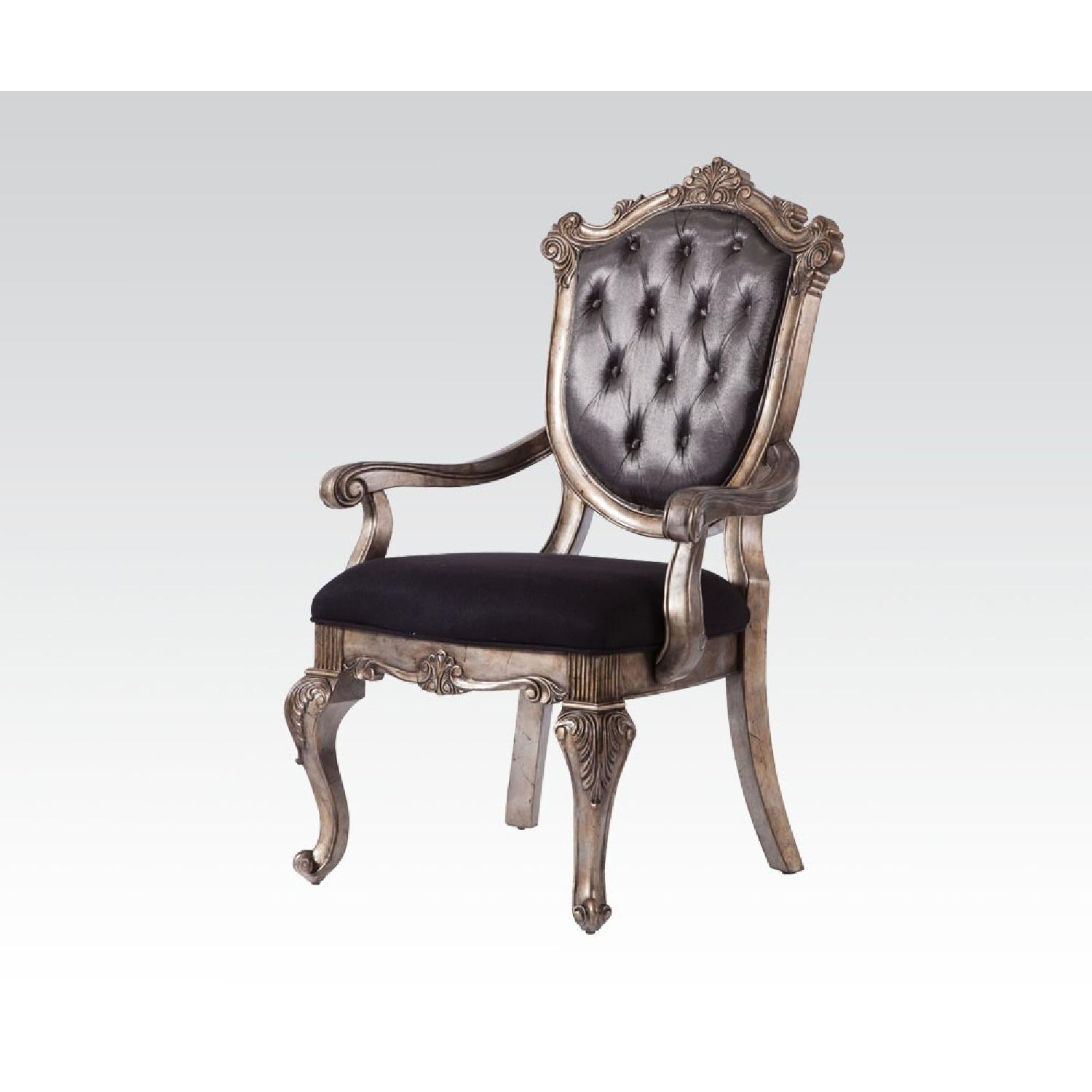 Acme Chantelle Button Tufted Back Seat Dining Arm Chair