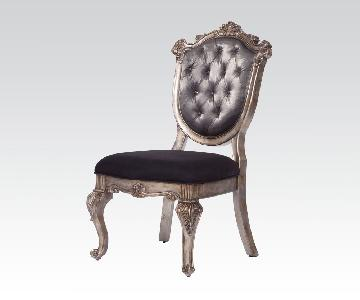Acme Chantelle Button Tufted Back Seat Dining Side Chair