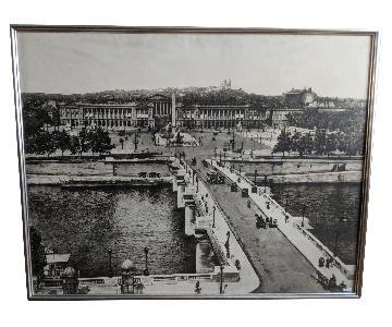 Antique Large Photographic Image of Paris, France